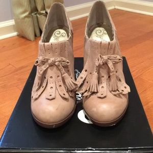 Seychelles taupe tassel shoes